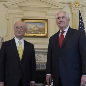 Tillerson, Amano Discuss Iran Nuclear Pact
