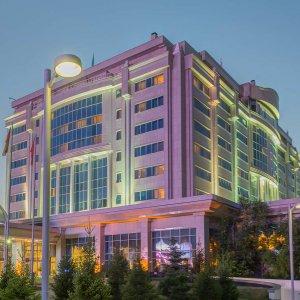 Astana's Rixos President Hotel where the Syria peace talks are to be held on Jan. 23-24
