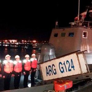 Azeri Flotilla Berths at Bandar Anzali
