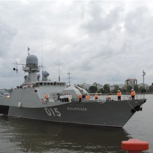 Russian Flotilla Docks in Caspian Port