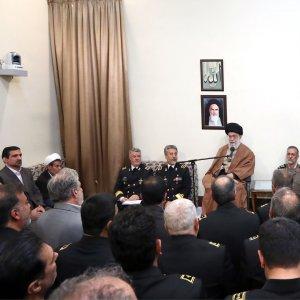 Ayatollah Seyyed Ali Khamenei meets Navy commanders in Tehran on Nov. 28.