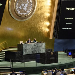 The United Nations approved by a resounding vote a motion rejecting the US decision to recognize  Beit-ul-Moqaddas as Israel's capital on Dec. 21.