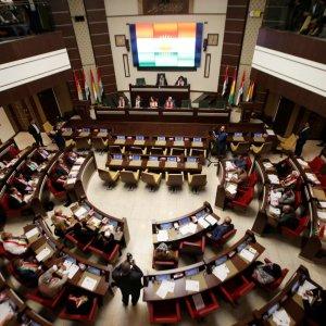 General view of the Kurdistan Parliament meeting in Erbil, Iraq September 15.