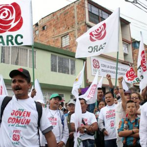 Colombians Vote in Elections  Seen as Test for Peace Deal