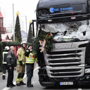 The truck used in the Berlin market attack