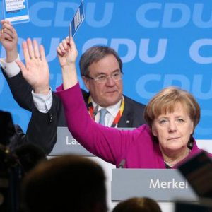 Delegates at the CDU party conference in Berlin on Monday approved by a wide margin the grand coalition.