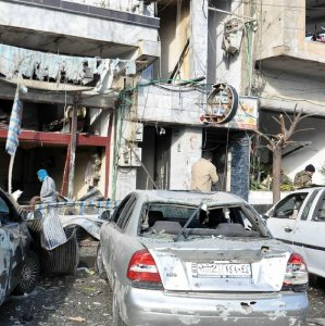 Explosions Near Police Station  in Damascus