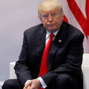 [At the end of the G20 meeting on July 10, US President Donald Trump declined to give a traditional end-of-summit press conference.