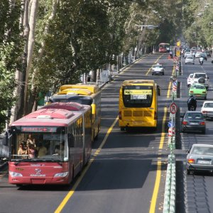 Buses account for 23% of all transportation in Tehran.