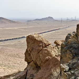 Cargoes transported from southern Iranian ports to Turkey and Central Asia currently hold the biggest share in Iran's rail transit. (Photo: Jean-Marc Frybourg).