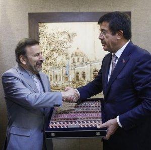 Turkish Economy Minister in Tehran