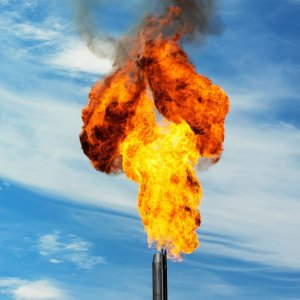 An estimated 3.5% of the world's natural gas supplies were wastefully burned at oil and gas fields in 2012.