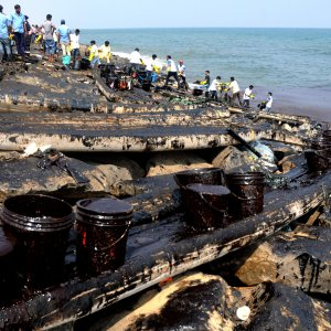 Kuwait Battling Oil Spill in Persian Gulf