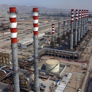 The Persian Gulf Star Refinery is designed to produce 36 million liters per day of gasoline.