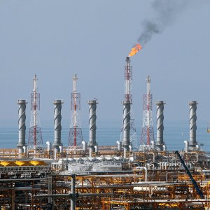 A view of the South Pars Gas Field in Kangan, Bushehr Province
