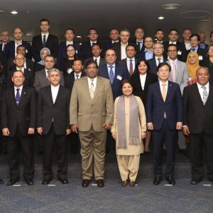 Attendants at the Fourth Conference of the United Nations Economic and Social Commission for Asia and the Pacific