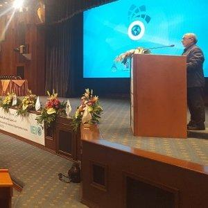 CBI Vice Governor Akbar Komijani addresses an event on Iran's investment opportunities in Tehran.
