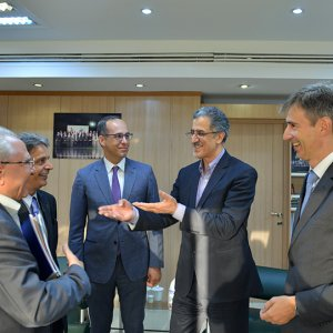 Markus Leitner (1stR) and Masoud Khansari ( 2ndR) met at TCCIM headquarters on Sept. 26 ahead of an Iranian trade missionvisit to Vienna and Zurich.