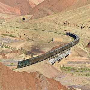 The share of Iranian railroads in steel transportation is one-third.