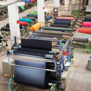 Iran's textile and clothing industry's $850 million worth of annual exports (excluding hand-woven carpets) constitute a 0.1% share in global markets