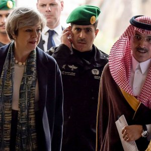 May Pitches for UK Aramco Listing on Saudi Trip