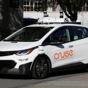A self-driving GM Bolt EV