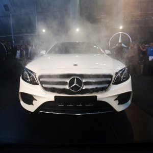 The Mercedes-Benz E200 was one of the new vehicles at the annual event.