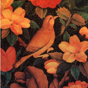 A sample of traditional birds and flowers painting