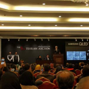 Farmanfarmaian triptych mirror work was bought for 13b rials as the highest sell at the auction.