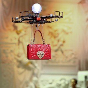 At the beginning of the show, eight drones emerged carrying an array