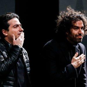 Homayoun Shajarian (R) and Sohrab Pournazeri