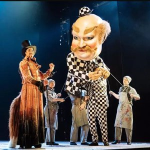 Shadowy Pinocchio at London's National Theater