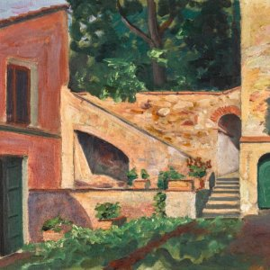 """The auction offers """"An Open Staircase"""" by Winston Churchill among other notable works."""