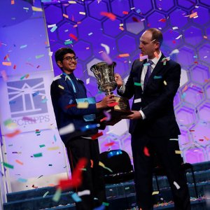 Karthik Nemmani won the 2018 Scripps National Spelling Bee.