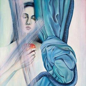 Apple, Woman, Serpent, Curtain