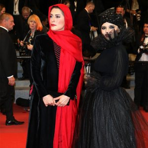 Actresses Behnaz Jafari (L) and Marzieh Rezaei walked the  red carpet on Saturday.