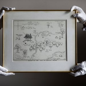 Original Winnie-the-Pooh Map Up for Sale in London