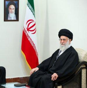 Leader of Islamic Revolution Ayatollah Seyyed Ali Khamenei receives Azeri President Ilham Aliyev in Tehran on March 5.