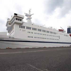 """Sunny"" is the first-ever cruise ship to dock at Kish Island in nearly 40 years."