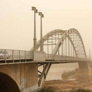 The iconic Pol-e-Sefid bridge in Ahvaz, Khuzestan Province, on Feb. 18