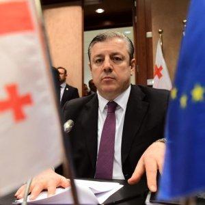 Georgian Prime Minister Giorgi Kvirikashvili attends a European Council meeting in Brussels, Belgium, in Dec. 2016. (File Photo)