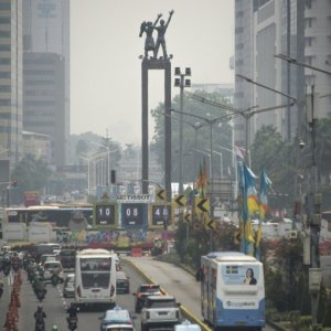 Jakarta's toxic skies have been stuck at unhealthy levels for weeks.