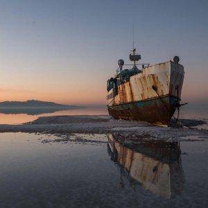 Urmia Lake Water Declines