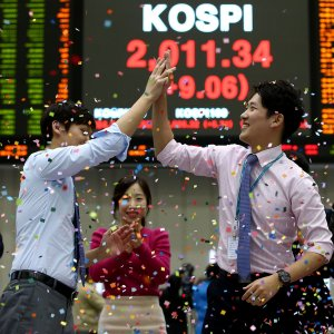 South Korean markets carved out slight gains.