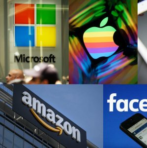 Eight firms—led by Apple, Microsoft and Google's parent Alphabet Inc.—account for almost two-thirds  of the overseas cash held by S&P 500 companies.
