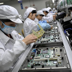 Electronics is one of the largest slices of US-China trade.