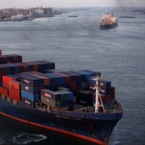 Suez Canal is the fastest shipping route between Europe and Asia.