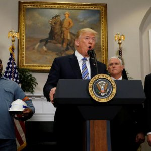 US President Donald Trump makes  an announcement of tariffs at the  White House on March 8.