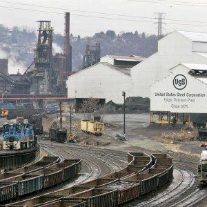 A US steel plant in Braddock, Pennsylvania