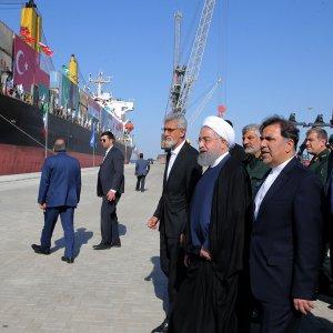President Hassan Rouhani visits Chabahar's Shahid Beheshti Port on Dec. 3.